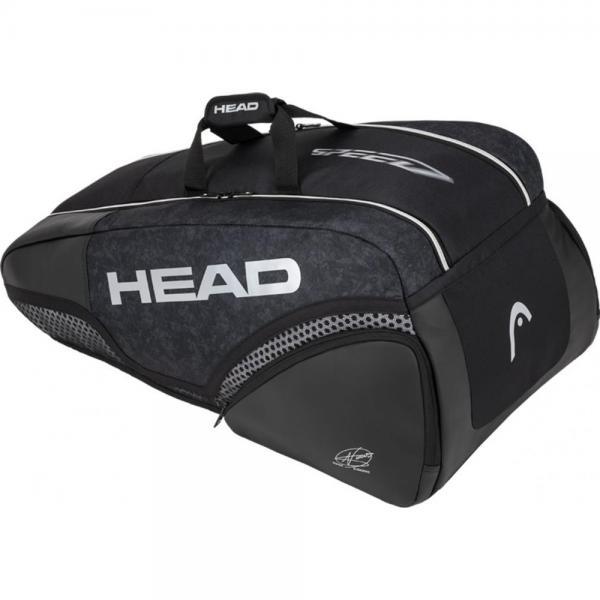 Geanta Head HEAD DJOKOVIC 9R SUPERCOMBI BK/WH