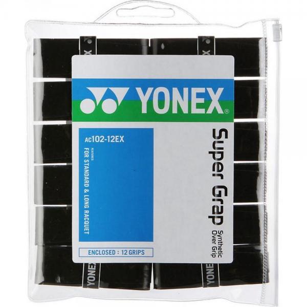 Overgirp YONEX X SUPER GRAP SET 12 buc Negru