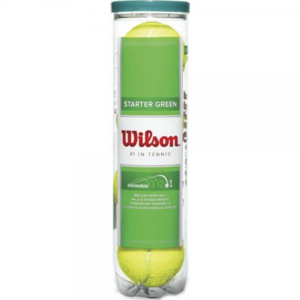Set mingi tenis Wilson Starter Play Green, 4 bucati